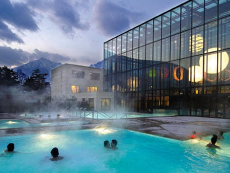 The spa town of Merano